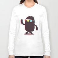 monster Long Sleeve T-shirts featuring MONSTER 3d by Monster Riot