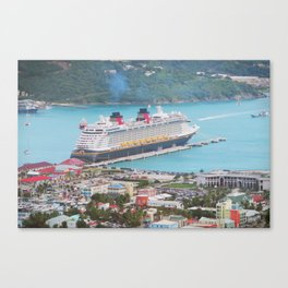 View of our ship Tortola Canvas Print