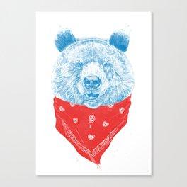 Wild bear (color version) Canvas Print