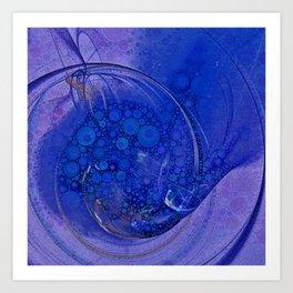 Blueberry Swirl Art Print