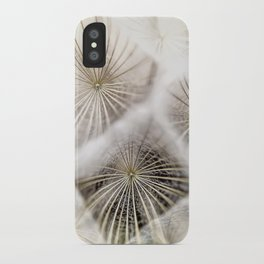 Into the deep- Dandelion Seed Head- Close up iPhone Case