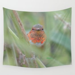 An Allen's Hummingbird Amid Mexican Sage Wall Tapestry