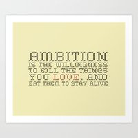 30 rock Art Prints featuring Ambition — Jack Donaghy, 30 Rock by feishien