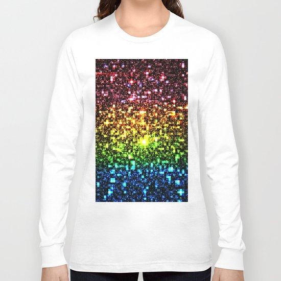Geometric Galaxy Stars : Rainbow Long Sleeve T-shirt