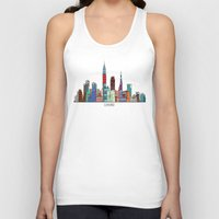 cleveland Tank Tops featuring Cleveland city  by bri.buckley