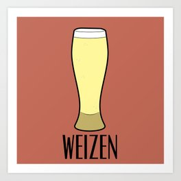 Beer Glasses (Weizen) Art Print