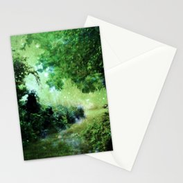 Magical Garden Path Green Stationery Cards
