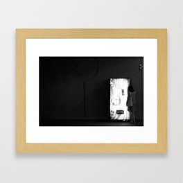 Late night mirage. Framed Art Print