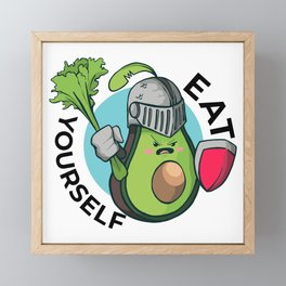Avocado in armor - eat yourself Framed Mini Art Print