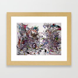 Mess Framed Art Print