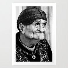 Granny Art Print