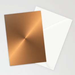 CIRCULAR BRUSHED COPPER  Stationery Cards
