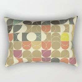 Abstract Geometric Artwork 08 Rectangular Pillow