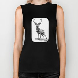 All Muscle - Red Deer Stag Biker Tank