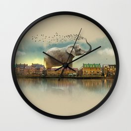 Travelling elephant Wall Clock