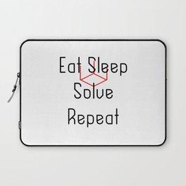 Eat Sleep Solve Cube Repeat Speed Cubing Laptop Sleeve