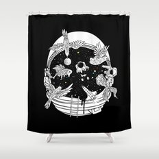 Depth of Discovery (A Case of Constant Curiosity-B/W) Shower Curtain