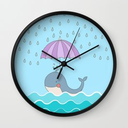 Swimming Whale #art #homedecor #society6 Wall Clock