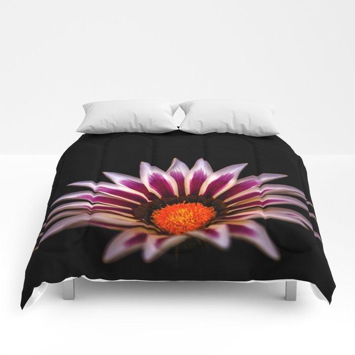 Big Kiss White Flame Flower Comforters