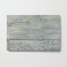 Gray Seas Metal Print