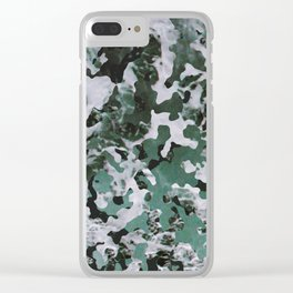 Surfing Camouflage #4 Clear iPhone Case