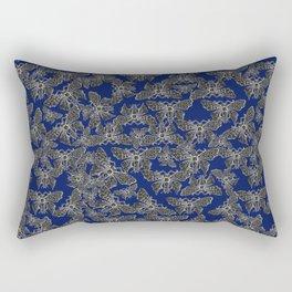 Night Butterfly Jewel Rectangular Pillow