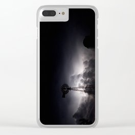 Midnight Thunder Clear iPhone Case