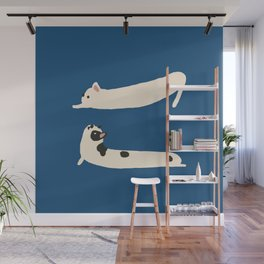Stretching French Bulldog Wall Mural