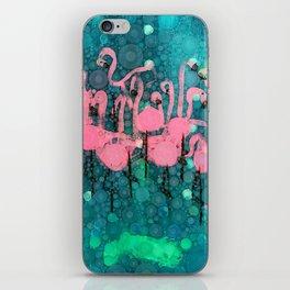 :: Flamingos Among Us :: iPhone Skin