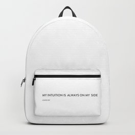 My intuition is always on my side Backpack