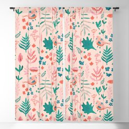 Pink Nature Blackout Curtain