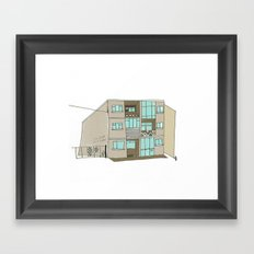 The Building across from the Blue Note. Galway city. Framed Art Print
