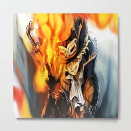 the power of fire on sabo Metal Print