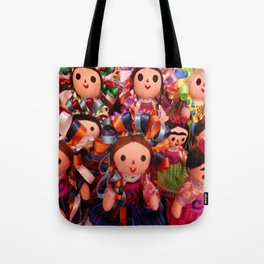 Frida and Mexican dolls Tote Bag