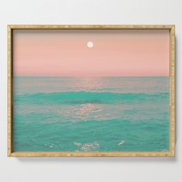 Light Pink Turquoise Waters Serving Tray