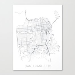 Made In Maps - San Francisco Canvas Print