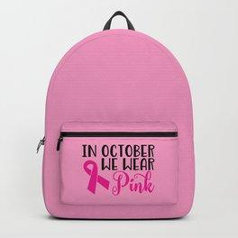 In October We Wear Pink Backpack