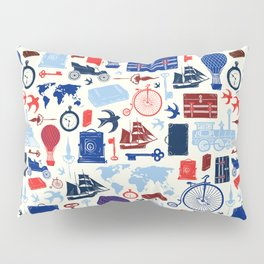 All Aboard to Explore Our Marvelous World - Vintage Travel from the Victorian Era Pillow Sham