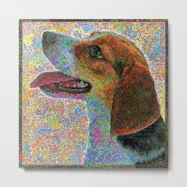 Colorful Beagle Metal Print