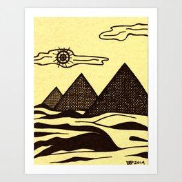 Egypt in 1, 2, 3... Art Print