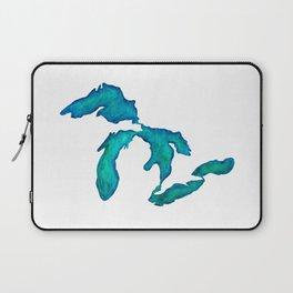 watercolor Great Lakes Laptop Sleeve