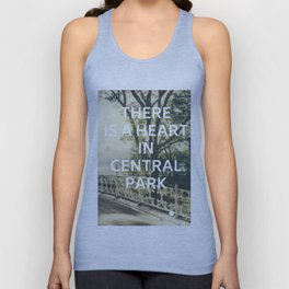 New York (There is a Heart in Central Park) Unisex Tank Top