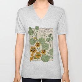 Maurice Verneuil - Capucine - botanical poster Unisex V-Neck