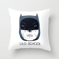 old school Throw Pillows featuring old school by Louis Roskosch