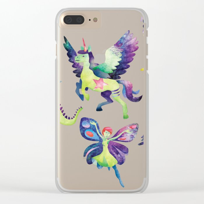 Fly into my dreams Clear iPhone Case