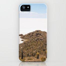 Cactus island Uyuni. Isla Incahuasi, Inkawasi or Inka Wasi iPhone Case