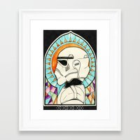 trooper Framed Art Prints featuring TROOPER by KMLS