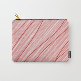 Peppermint Stripes Red and White - Digital Painting Carry-All Pouch