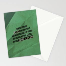 We are but hopeful lovers Stationery Cards