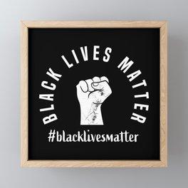 Black Lives Matter BLM Equality Anti Rac Framed Mini Art Print